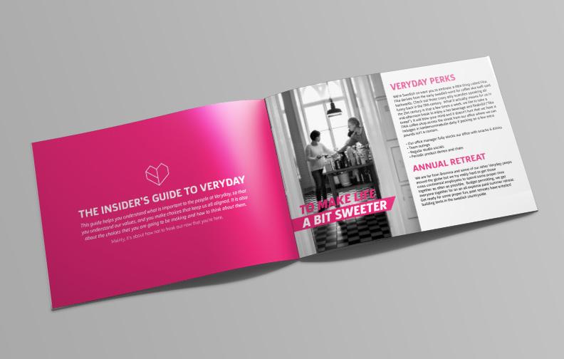 Veryday Morgan Bortz - Employee handbook design